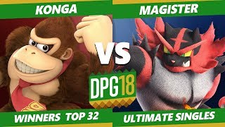 Smash Ultimate Tournament - KOL | Konga (DK) Vs. Magister (Villager, Incineroar) DPOTG18 SSBU WR2