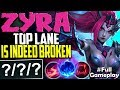 ZYRA TOP LANE IS INDEED BROKEN | ONE SHOT EVEN TANKS | Zyra vs Maokai Top | Season 8 Ranked Gameplay