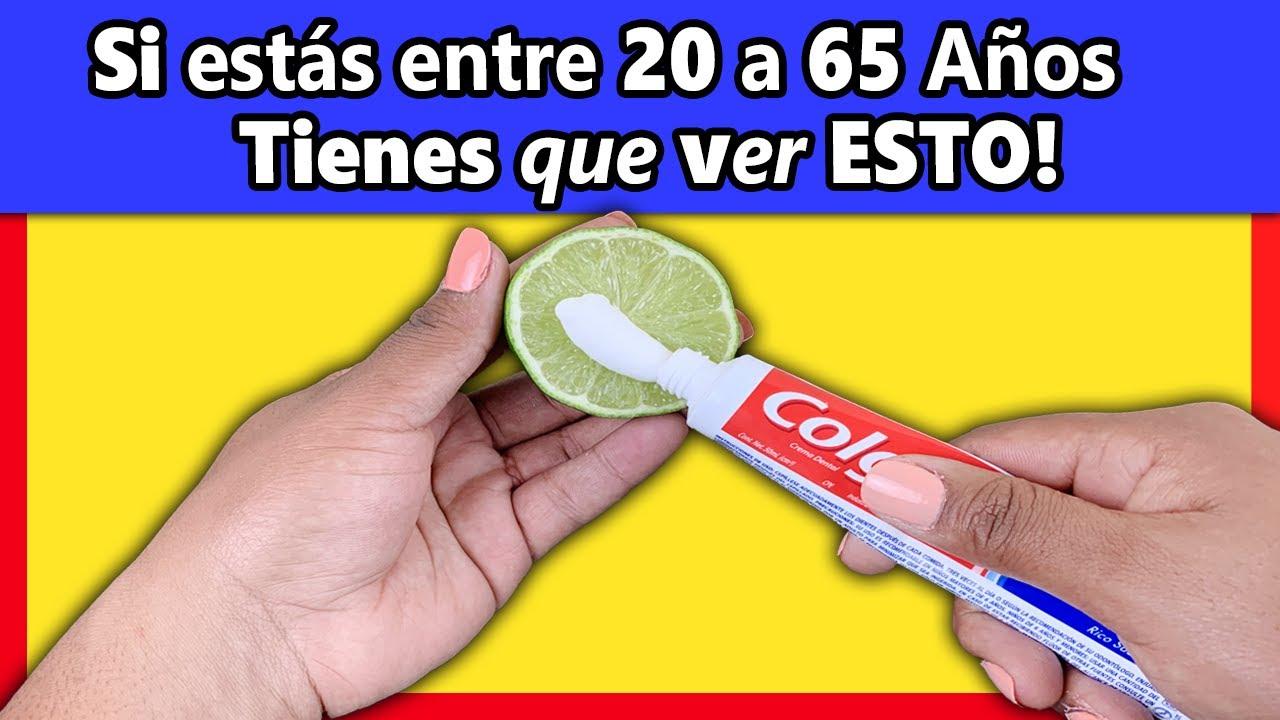 MEZCLA 1 Limón con PASTA dental en La NOCHE y me lo Vas a Agradecer INFINITAMENTE!