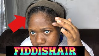 My first time applying a frontal wig FT Faddishair
