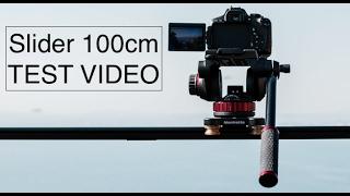 Slider Manfrotto 100cm + Rotule vidéo 502 - Tests