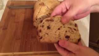 Пшеничный хлеб в хлебопечке с клюквой и орехами пекан