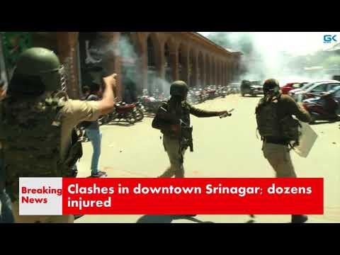 Clashes in downtown Srinagar; dozens injured