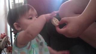 Aspen Has Her First Pinwheel Cookie
