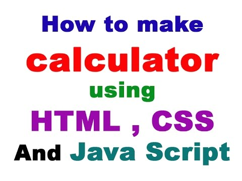 #1 Design Calculator Form In HTML Page How To Make Calculator Using HTML Part 1