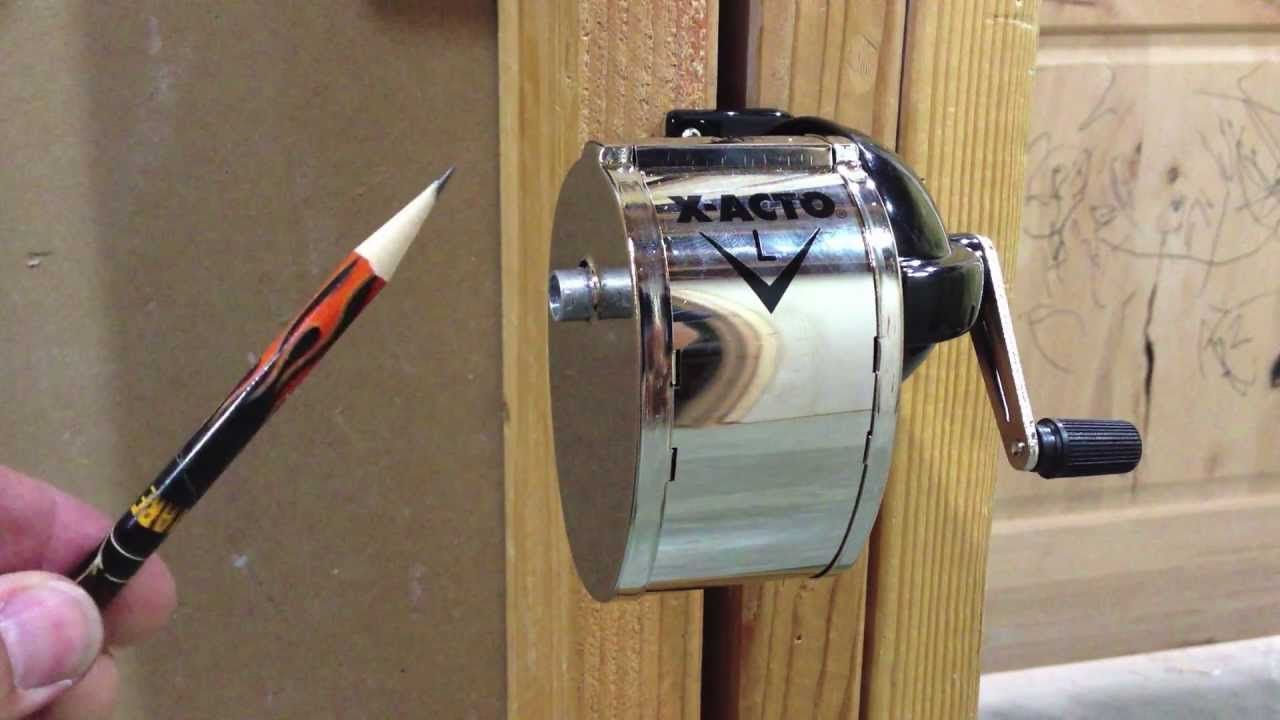 x acto l manual wall mount pencil sharpener review youtube