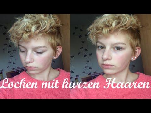 LOCKEN mit KURZEN Haaren  CariSTMAS  YouTube