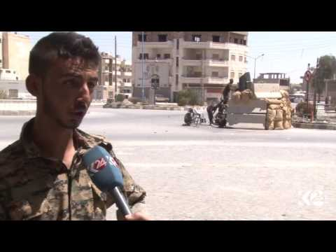 Kurdish YPG clash with Pro-Assad militias in Hasaka, NE Syria
