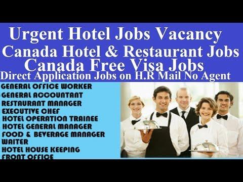 Canada Hotel Jobs Vacancy L Hotel Jobs In Canada L Hotel And Restaurant Jobs Canada L Canada Visa