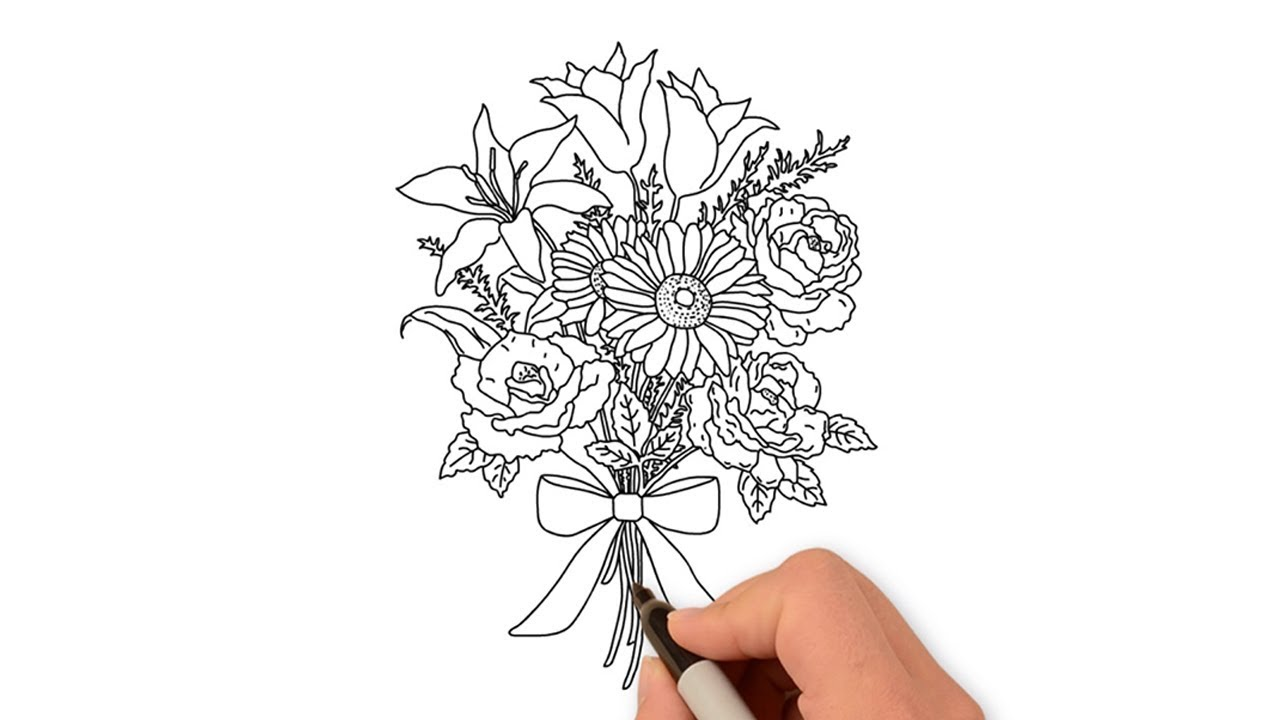 Easy Trick How To Draw Flowers Easy Drawing Ideas Step By Step