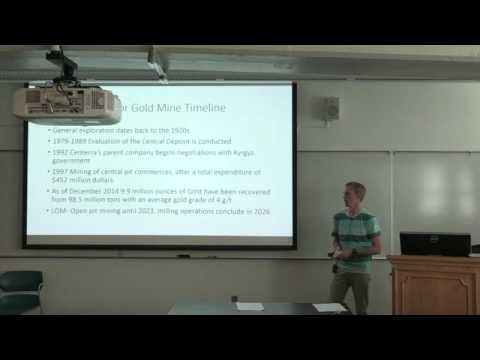 Cameron Geology 460-Kumtor Gold Mine Presentation