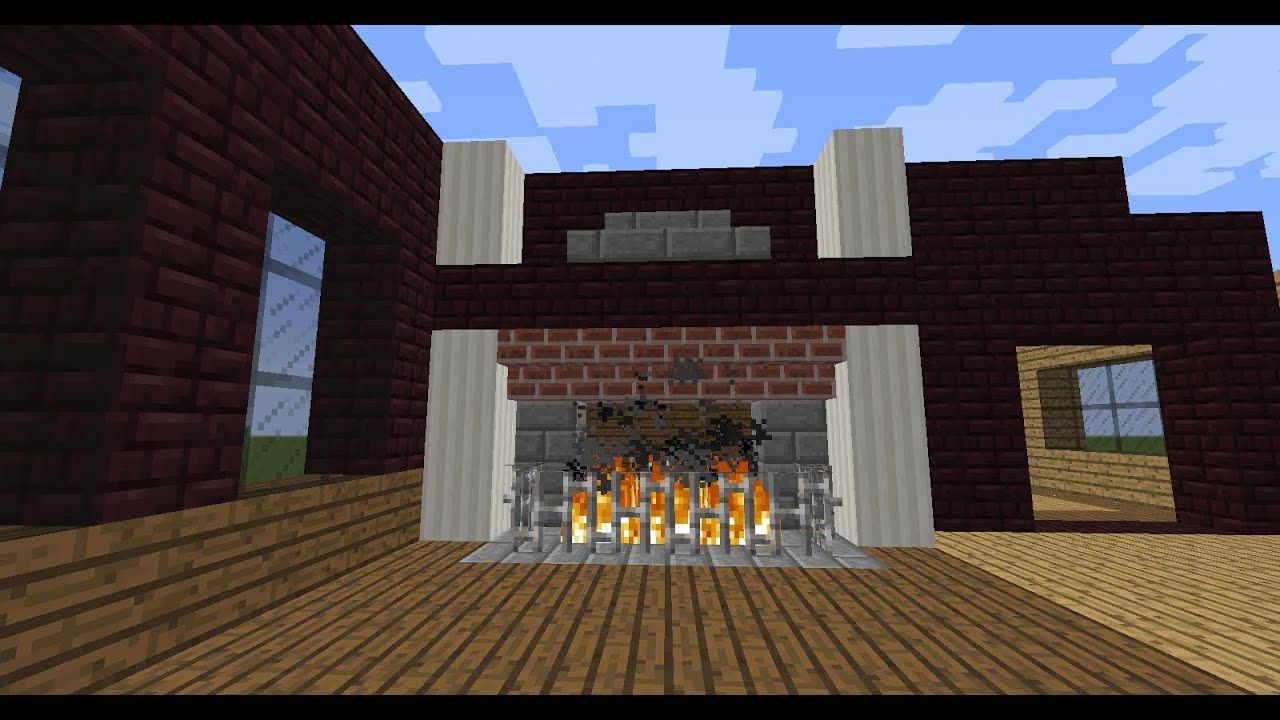 Idea for Generikb's Nether Brick Room (Fireplace) - YouTube