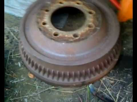 1994 Dodge Ram2500 Rear Brake Shoe Replacement Youtube