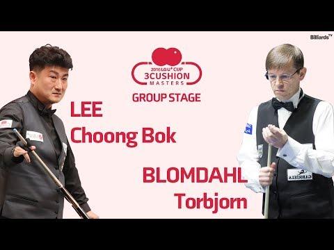 [당구-Billiard] 3 Cushion_Choong-Bok Lee v Torbjorn Blomdahl_2016 LG U+ Cup Masters_Group Stage_Full_1