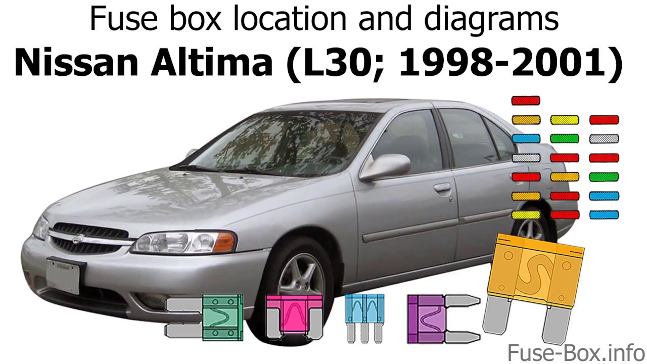 [SCHEMATICS_4NL]  Fuse box location and diagrams: Nissan Altima (L30; 1998-2001) - YouTube | 98 Altima Fuse Diagram |  | YouTube