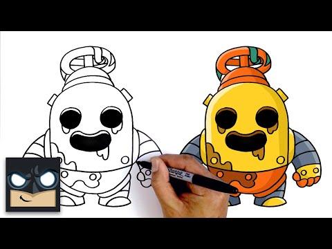 How To Draw Robo Spike | Brawl Stars