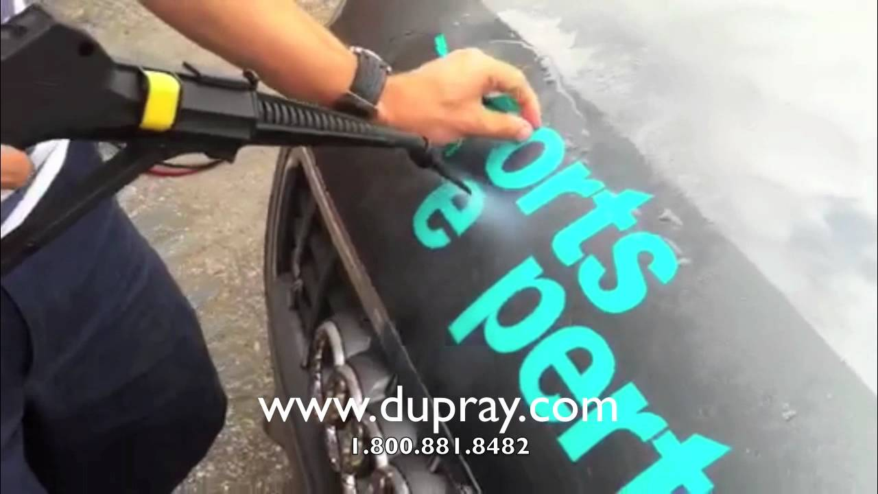 Videos commercial steam vinyl decal and vinyl lettering for Vinyl lettering adhesive remover