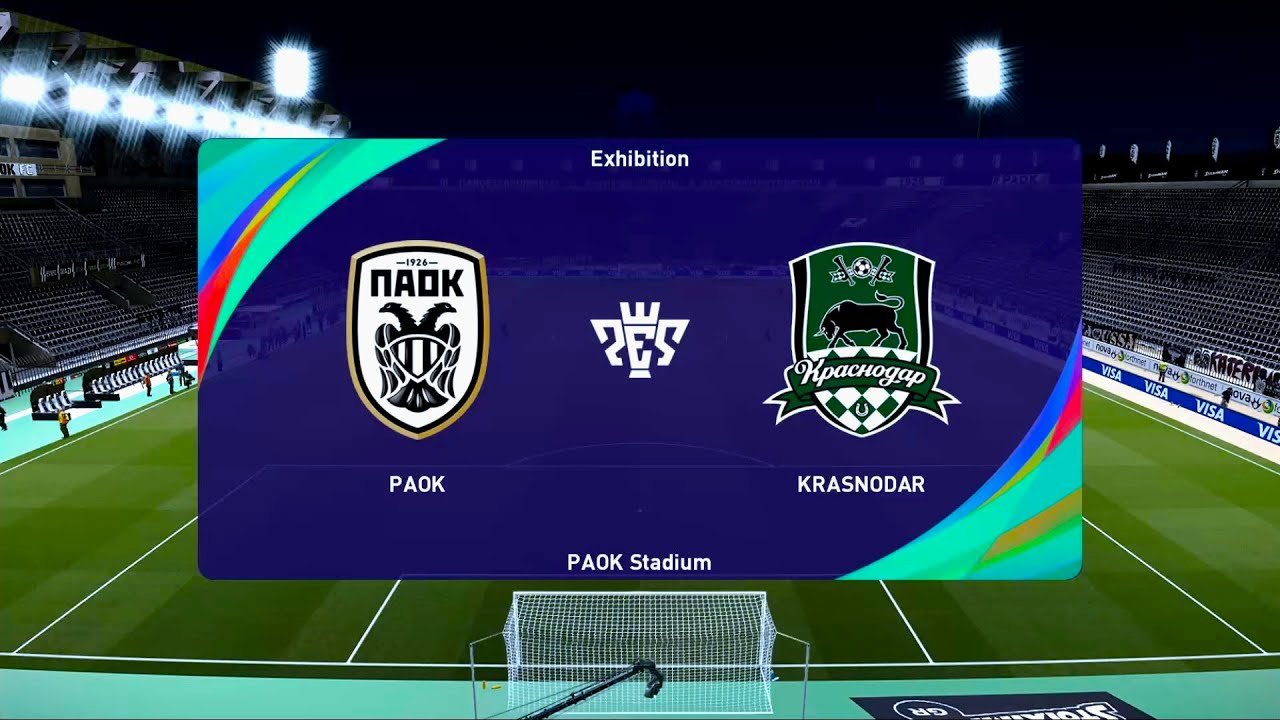 Paok Vs Krasnodar Paok Stadium Uefa Champions League Play Off Round Pes 2021 Youtube