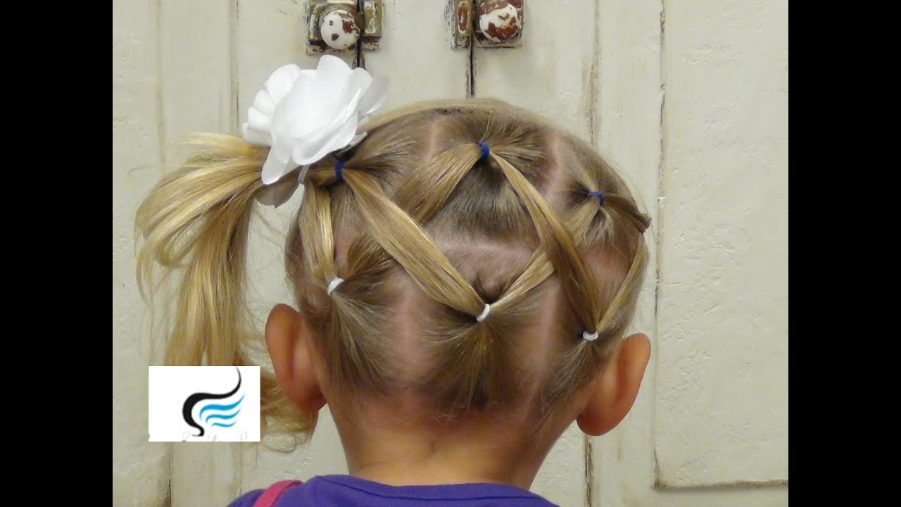 Cute And Simple Horizontal Zigzag Ponytail Hairstyles