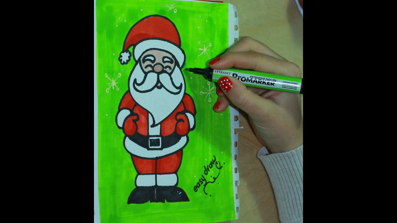 How to draw Santa Claus by easy draw - YouTube