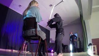 Blindfolded Martial Arts Demonstration