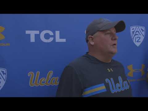 UCLA Football Coach Kelly Media Availability - 8.19.18