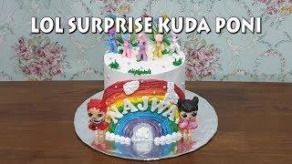 Kue Ulang Tahun LOL SURPRISE KUDA PONI CAKE
