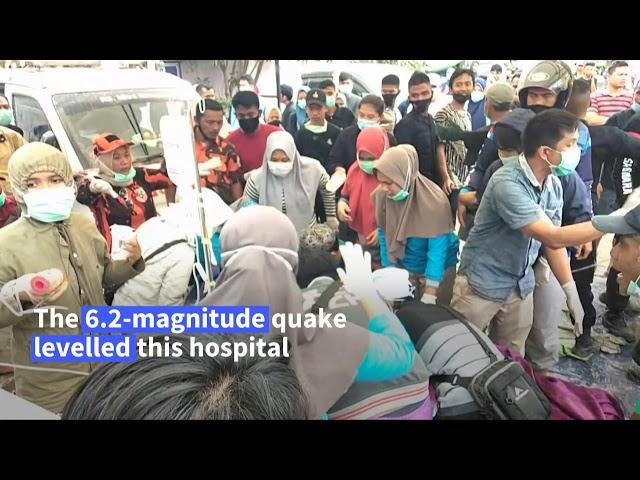 Powerful quake kills 42 and topples buildings