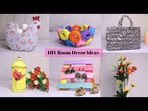 6 Useful DIY  Room Decor And Home Organizers Crafts/Home decors With Waste Materials by Aloha Crafts