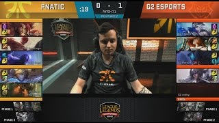 [EPIC] Fnatic (Caps Ryze) VS G2 (Perkz Syndra) Game 2 Highlights - 2017 EULCS Spring W1D1