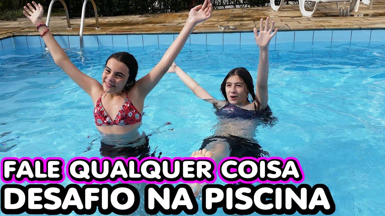 Desafio na Piscina Fale Qualquer Coisa ( Pulos, Mergulhos, Nadando, Diversão) Challenge Pool