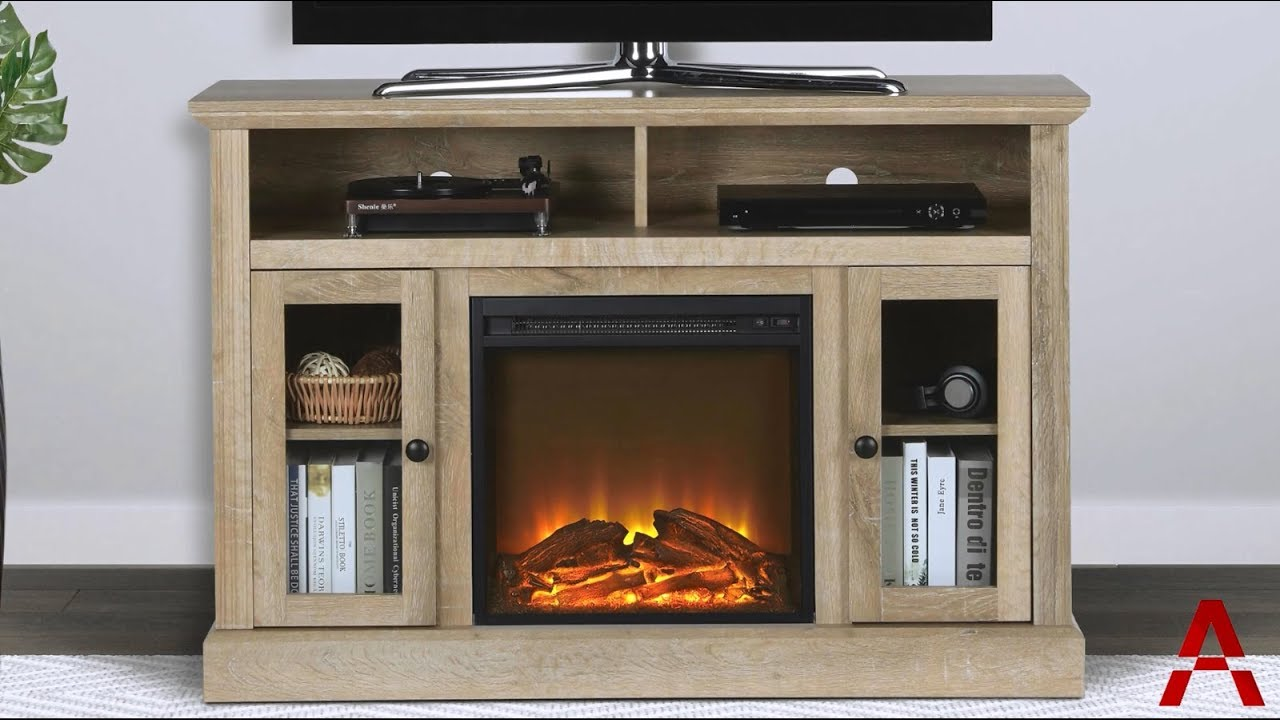 Chicago Electric Fireplace TV Stand - YouTube