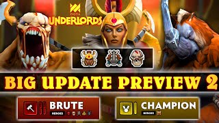 MORE NEW HEROES | LIFESTEALER + MAGNUS + LC | BRUTES + CHAMPION | BIG Underlords Update Preview (#2)