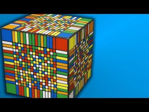 Solving the world's largest Rubik's Cube takes seven and a half hours