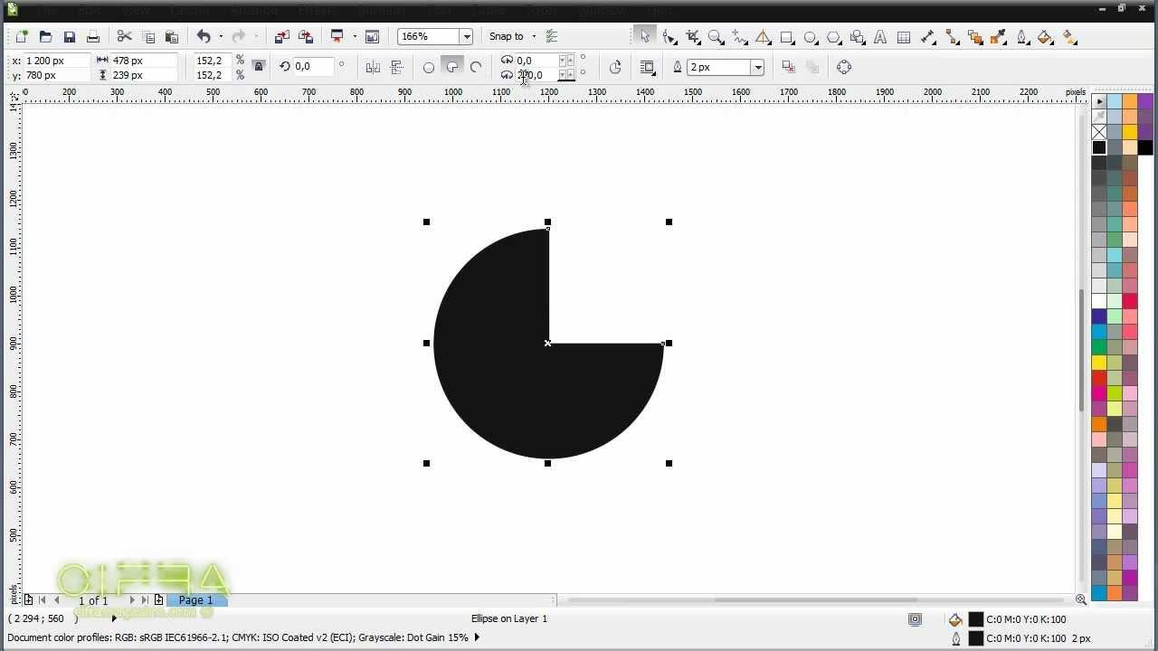 как вырезать круг из картинки в кореле
