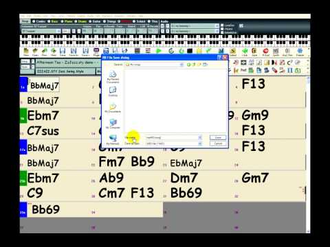 Band-in-a-Box: Exporting MIDI