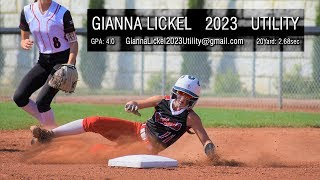 2023 - Gianna Lickel - Softball Recruiting Video - Hitting
