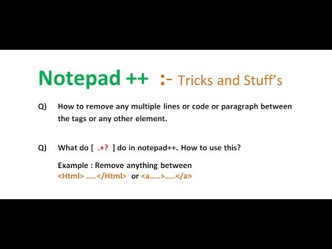 Remove Anything Between Tags In Notepad++