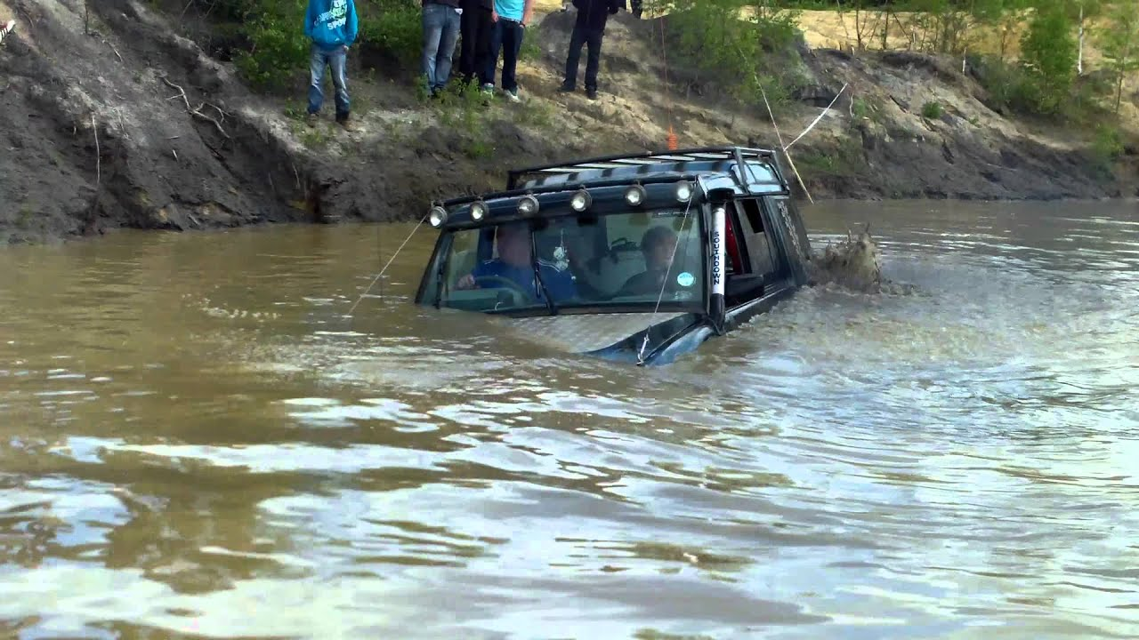 My Landrover Discovery Sinking In Deep Water Yarwell