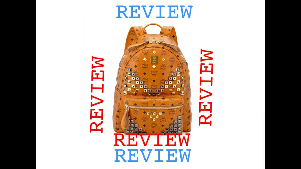 MCM Stark Studded Cognac Backpack Medium Size YouTube