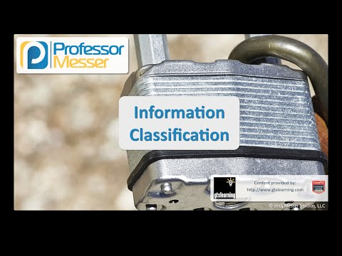 Information Classification - CompTIA Security+ SY0-401: 2.6