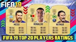 FIFA 19 Top 20 Best Players Ratings Predictions Ft. Ronaldo , Messi , Neymar 4K
