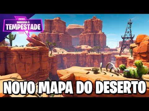 JOGANDO NO MAPA DE DESERTO - Fortnite Salve o Mundo
