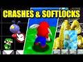 How Easily Can You Crash & Softlock Mario Games?