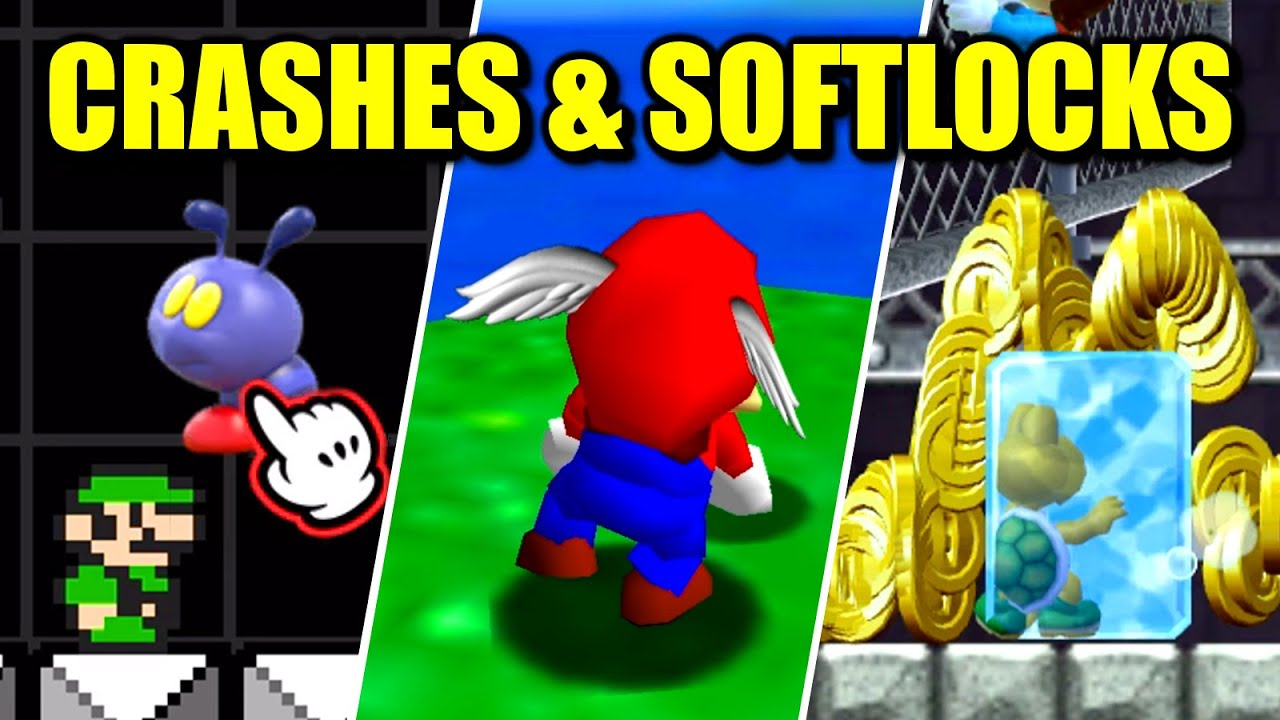 How Easily Can You Crash & Softlock Mario Games?