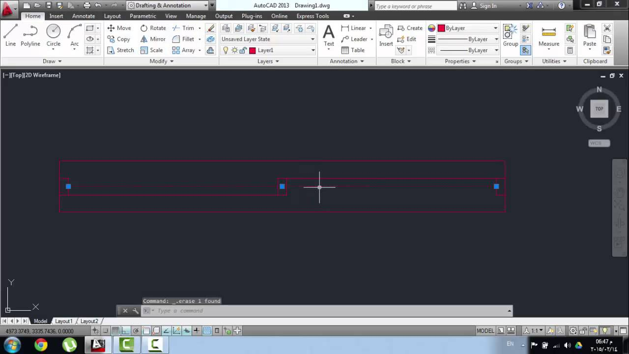 How To Draw Slide Window Autocad Youtube