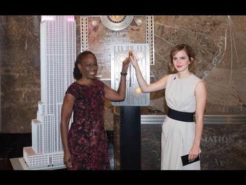 UN Women w/ Emma Watson and First Lady Chirlane McCray - ESB Lighting Ceremony