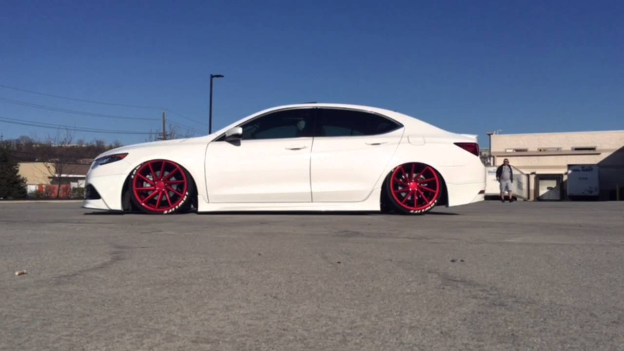 Bagged 2015 Acura TLX | Vossen Wheels - YouTube