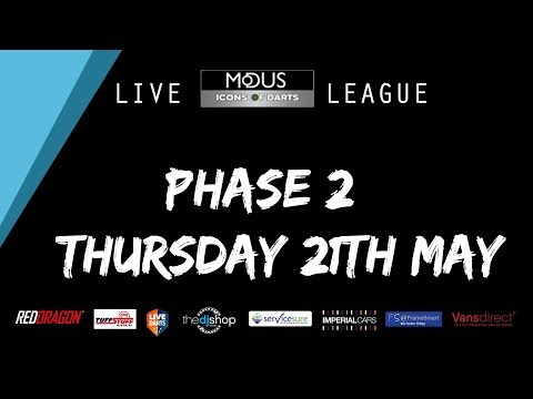 The MODUS ICONS OF DARTS LIVE LEAGUE PHASE 2: THURSDAY 21TH MAY