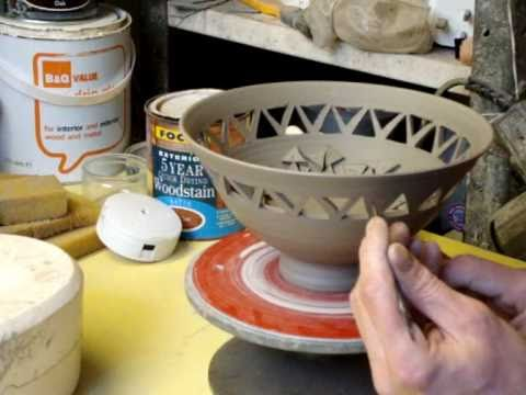 Carving A Clay Pottery Bowl Youtube